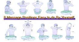Back Neck Shoulder massage 8 Positions to do By Yourself